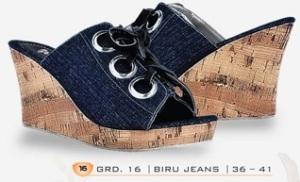 sandal Wedges Wanita model terbaru online